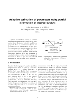 Adaptive estimation of parameters using partial information of desired outputs