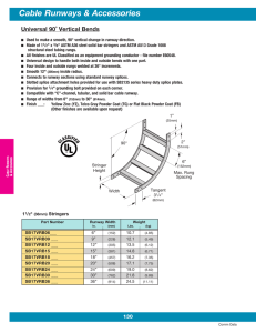 Cable Runways & Accessories Universal 90˚ Vertical Bends