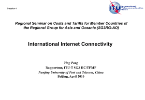 Regional Seminar on Costs and Tariffs for Member Countries of