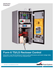Form 6 TS/LS Recloser Control Distribution Protection