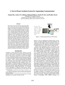 A Text-to-Picture Synthesis System for Augmenting Communication