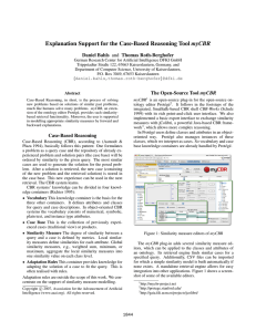 Explanation Support for the Case-Based Reasoning Tool myCBR