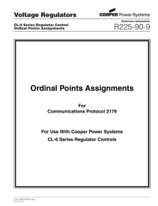 R225-90-9 Ordinal Points Assignments Voltage Regulators For