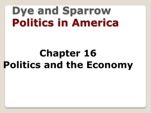 Dye and Sparrow  Politics in America Chapter 16