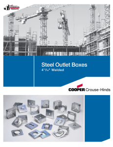 "Steel Outlet Boxes 4 / "" Welded"