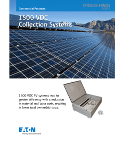 1500 VDC Collection Systems