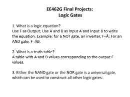 EE462G Final Projects: Logic Gates