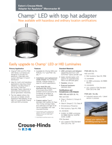 Champ® LED with top hat adapter Eaton's Crouse-Hinds