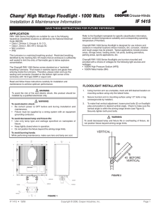 Eaton Utility Floodlight Dimming 120-277V 60Hz 129W UFLD-A40-D-U-66-S-AP-4N7-10K