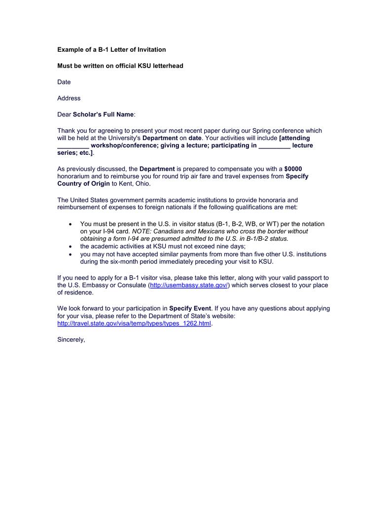 Example of a b 1 letter of invitation date address aljukfo Gallery