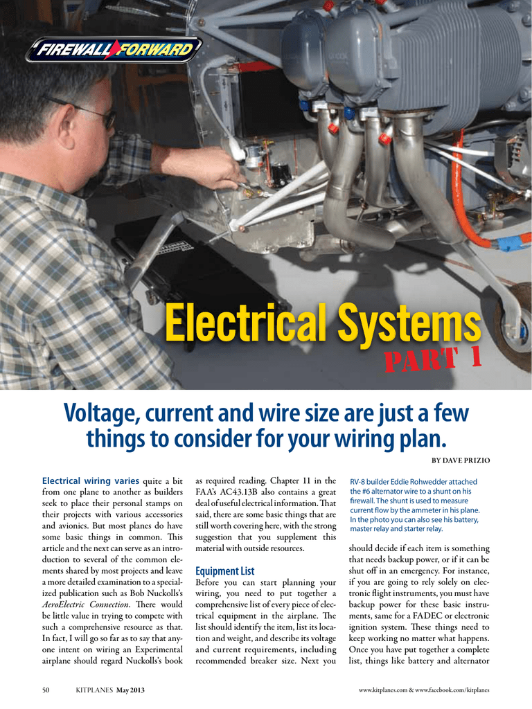 Electrical Systems Part 1 things to consider for your wiring