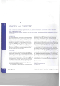 PROPERTY SALE BY RECEIVERS