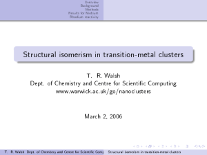 Structural isomerism in transition-metal clusters