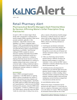 Retail Pharmacy Alert