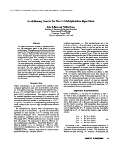 Evolutionary  Search  for  Matrix  Multiplication Algorithms