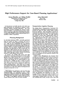 High  Performance  Support  for  Case-Based ... Applications* Alice  MulvehUl