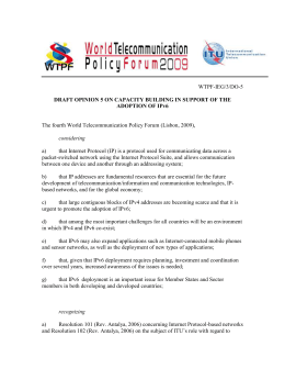 DRAFT OPINION 5 ON CAPACITY BUILDING IN SUPPORT OF THE WTPF-IEG/3/DO-5