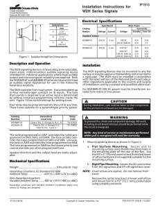 Installation Instructions for W2H Series Signals