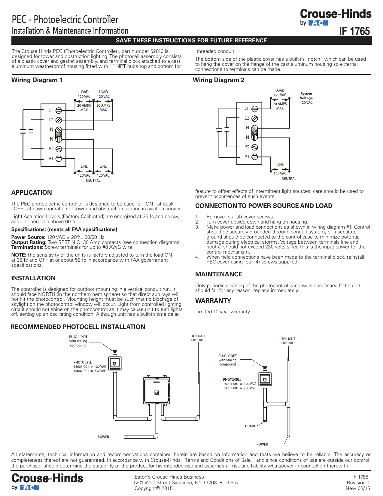 Photocell Lighting Control Wiring Diagram