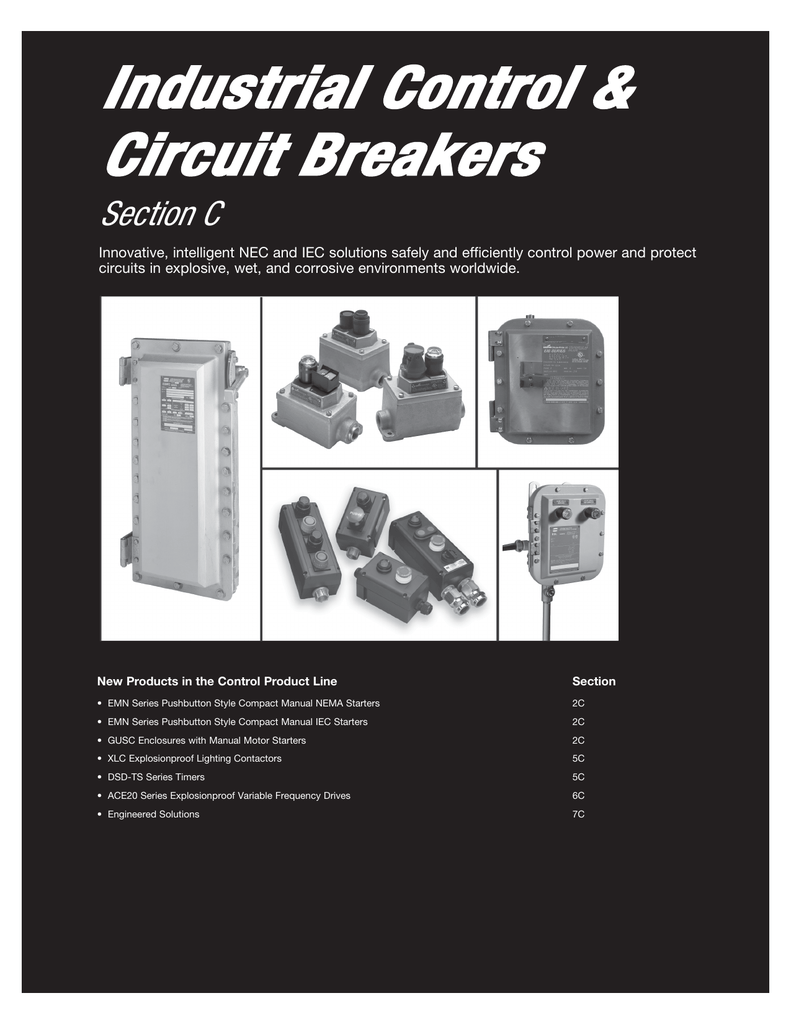 Industrial Control Circuit Breakers Section C Power For The Breaker S