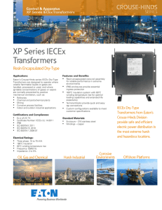 XP Series IECEx Transformers Resin Encapsulated Dry-Type Control & Apparatus