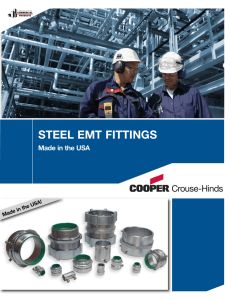 STEEL EMT FITTINGS Made in the USA Made in the USA!