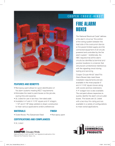 FIRE ALARM BOXES