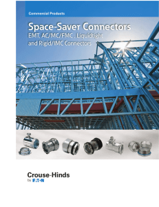 Space-Saver Connectors EMT, AC/MC/FMC , Liquidtight and Rigid/IMC Connectors Commercial Products
