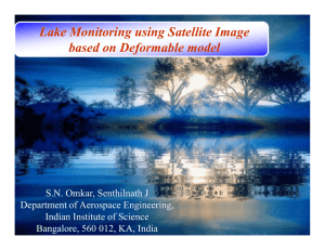 Lake Monitoring using Satellite Image based on Deformable model