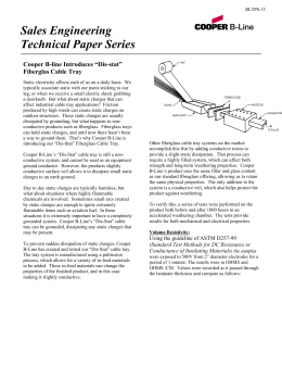 "Sales Engineering Technical Paper Series  Cooper B-line Introduces ""Dis-stat"""
