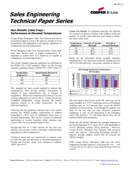 Sales Engineering Technical Paper Series  Non-Metallic Cable Trays –