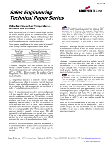 Sales Engineering Technical Paper Series  Cable Tray Use at Low Temperatures –