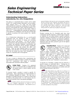 Sales Engineering Technical Paper Series  Understanding Underwriters