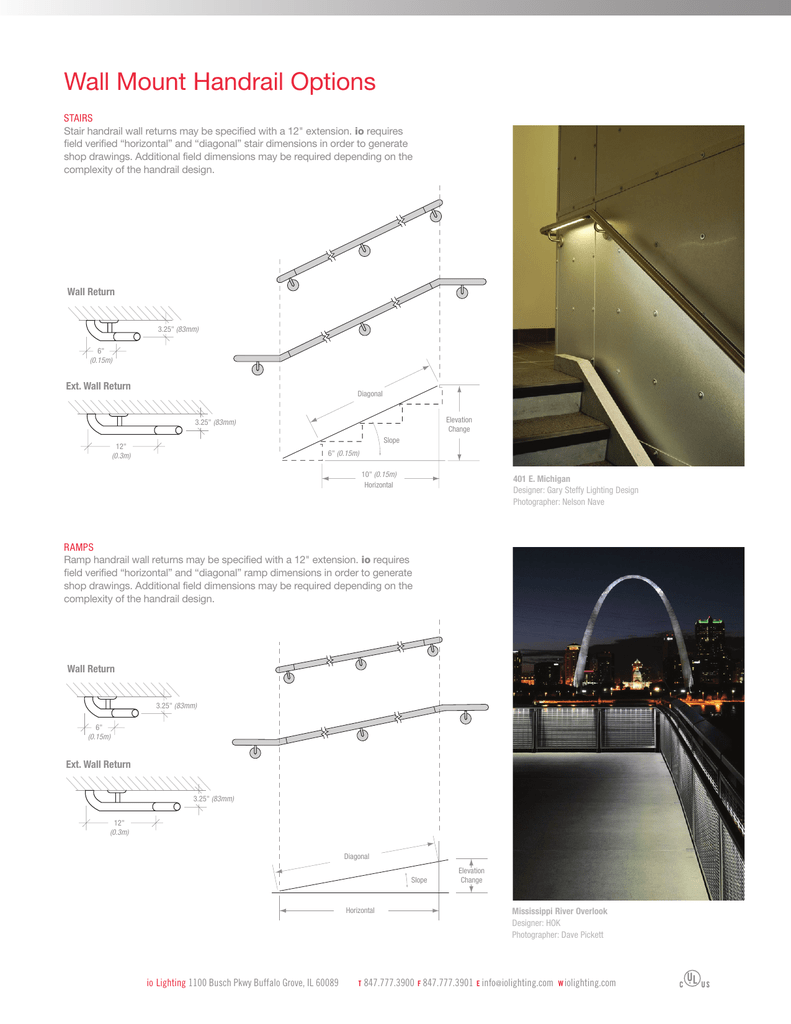 Wall Mount Handrail Options