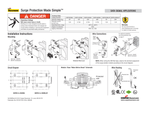 Surge Protection Made Simple ™ DATA SIGNAL APPLICATIONS