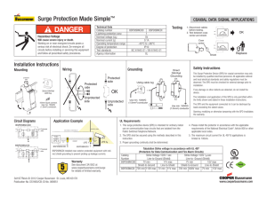 Surge Protection Made Simple ™