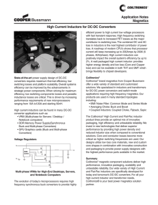 Application Notes Magnetics High Current Inductors for DC-DC Converters