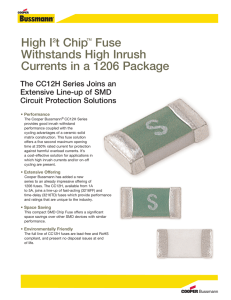 High I t Chip Fuse Withstands High Inrush