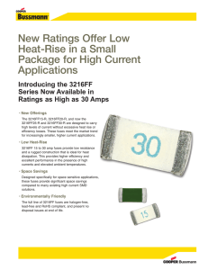 New Ratings Offer Low Heat-Rise in a Small Package for High Current Applications