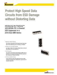 Protect High Speed Data Circuits from ESD Damage without Distorting Data