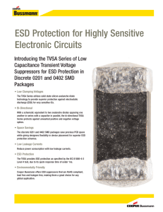 ESD Protection for Highly Sensitive Electronic Circuits