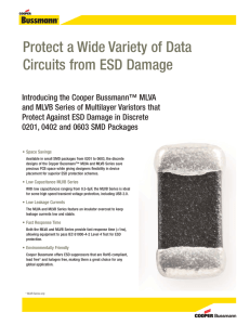Protect a Wide Variety of Data Circuits from ESD Damage