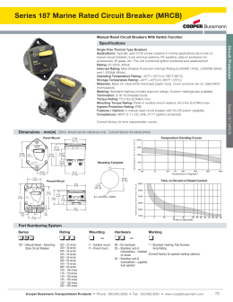 Series 187 Marine Rated Circuit Breaker (MRCB) Specifications