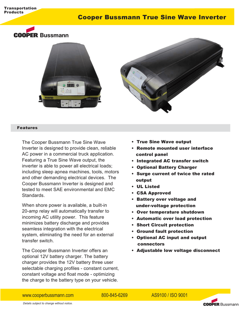 Cooper Bussmann True Sine Wave Inverter Protection From The Shortcircuit And Groundfault Device 013708383 1 28c4281eba2a2da854020defac2b044d