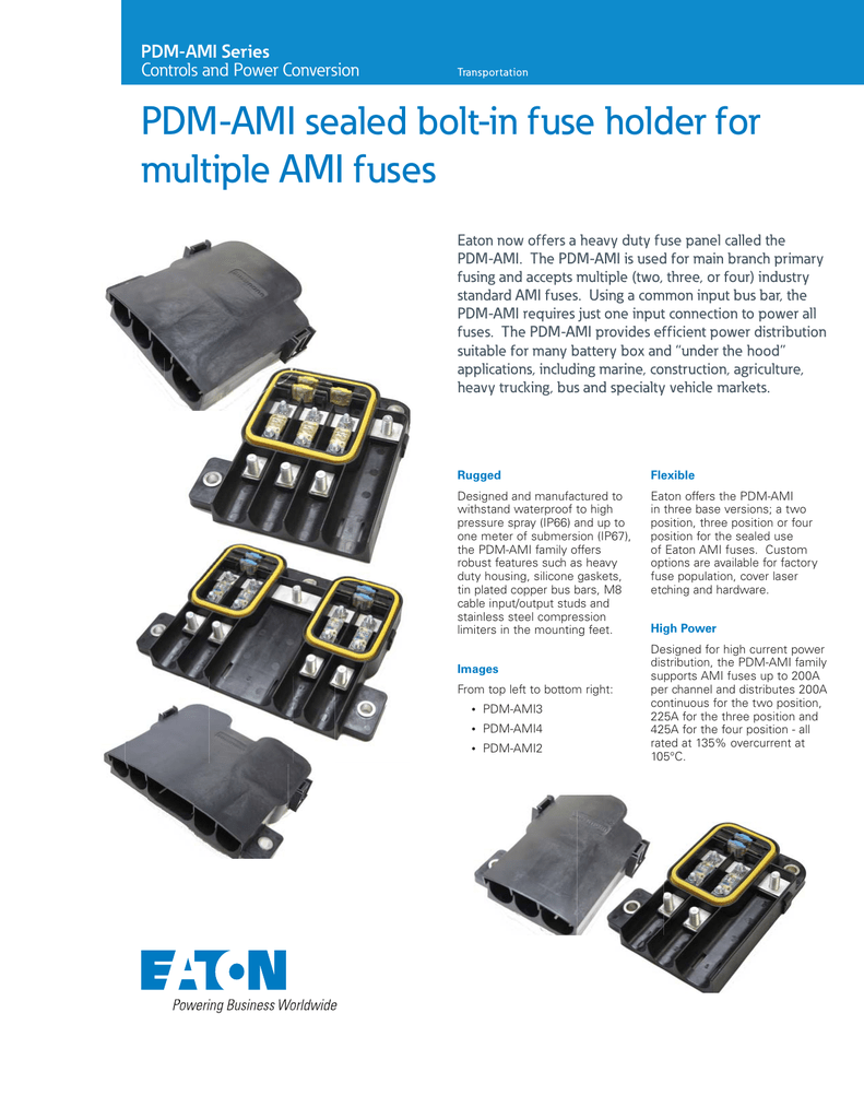 Pdm Ami Sealed Bolt In Fuse Holder For Multiple Fuses Series Cutler Hammer Box