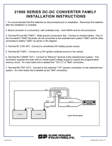 21000 SERIES DC-DC CONVERTER FAMILY INSTALLATION INSTRUCTIONS