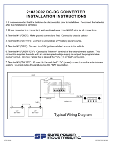 21030C02 DC-DC CONVERTER INSTALLATION INSTRUCTIONS