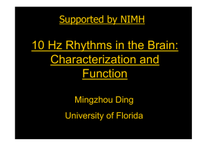 10 Hz Rhythms in the Brain: Characterization and Function Supported by NIMH