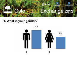 1. What is your gender? 1 2 61 %