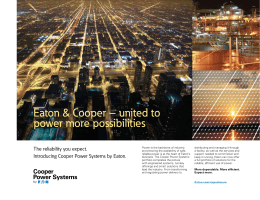 Eaton & Cooper – united to power more possibilities